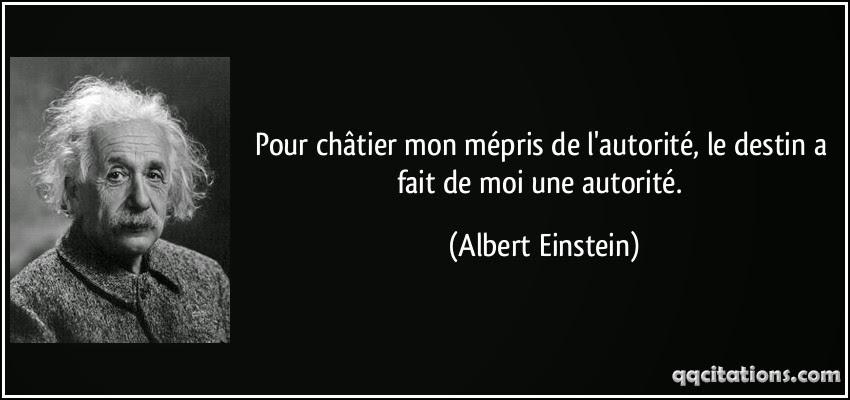 Einstein et l'argument d'autorité